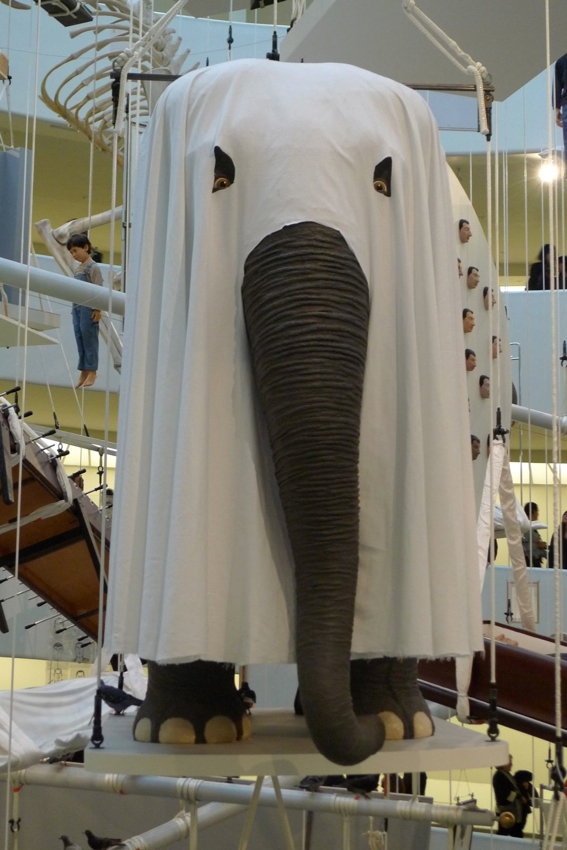 The elephant in the room. Maurizio. Cattelan