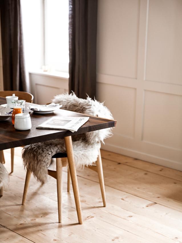 Brucke49; Switzerland; Vals; breakfast; interior