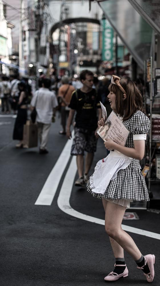 Portrait de vie dans les rues d'Akihabara