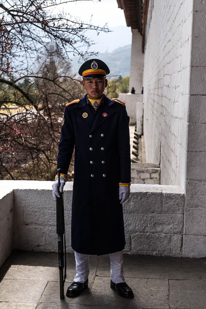 Garde royale, Tashichho Dzong