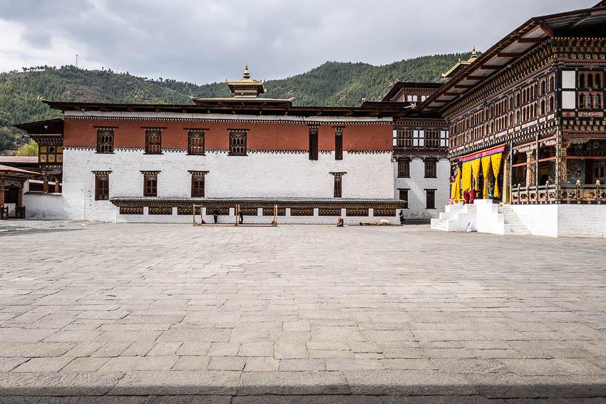 Cour intérieure Tashichho Dzong