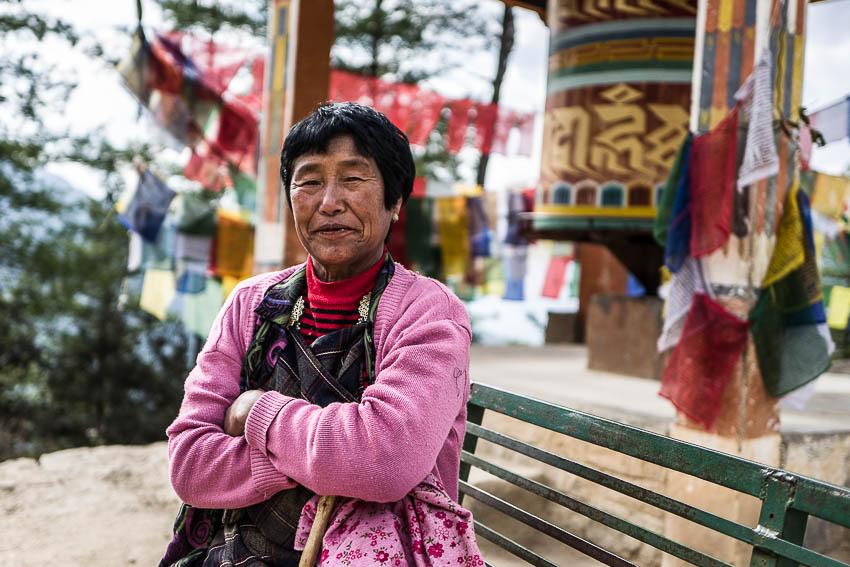 Portrait en chemin . Monastère de Taktshang