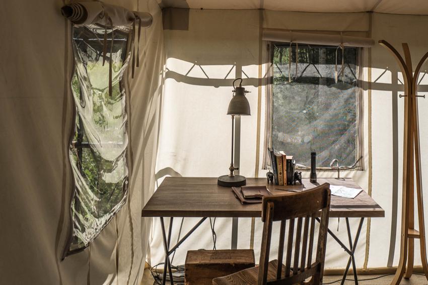 Dunton River Camp, le coin de l'écrivain